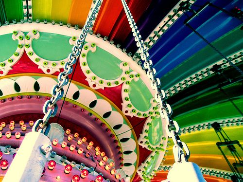 Carousel: Colour, Bright Color, Rainbows Color, Swings, So Pretty, Carnivals Riding, Photo, Color Pop, Color Carousels
