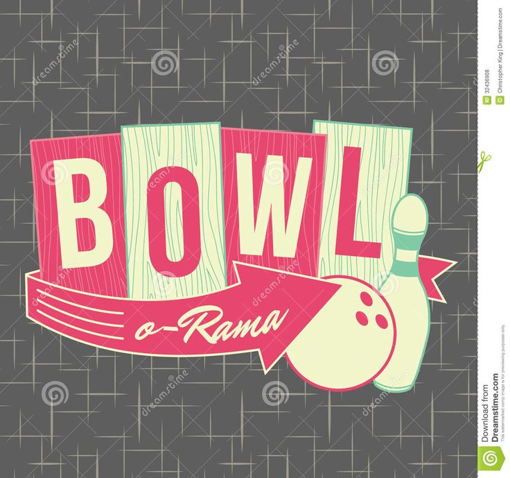 1950s bowling style logo design download from over 30