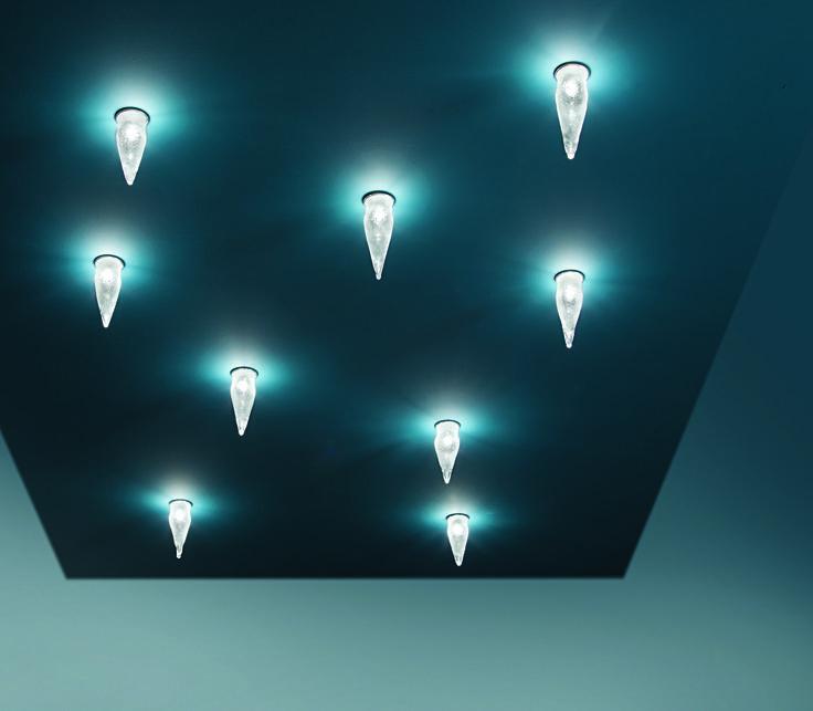 Ghiacciolo recessed light. Blown glass. Design Pepe Tanzi