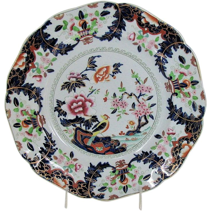 John Ridgway Imperial Stone China Plate \ Macartney\  Chinoiserie Antique Early 19th C  sc 1 st  Pinterest & 86 best English Chinoiserie Antique 19 C images on Pinterest ...