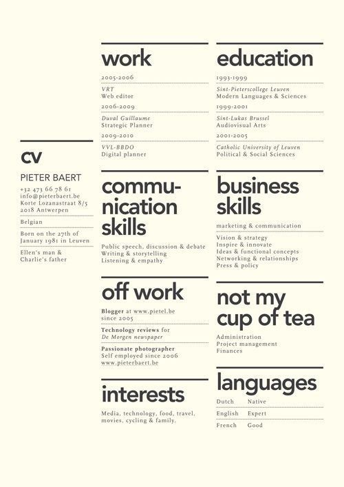 Nice resume layout
