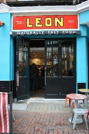 'Leon' Fast food, love their orange box label style branding and bold colours. Very retro and stylish.