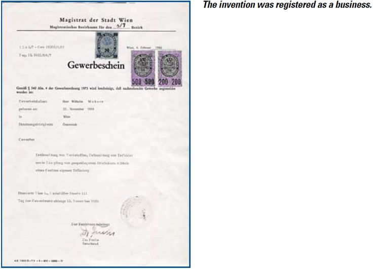 The invention was registered as a business.