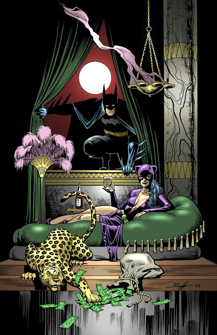 Bat And Cat With Images Catwoman Batman And Catwoman Art