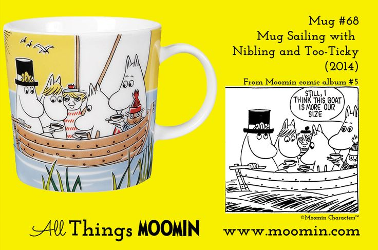 Mug #68 Moomin mug Sailing with Tooticky and Nibling