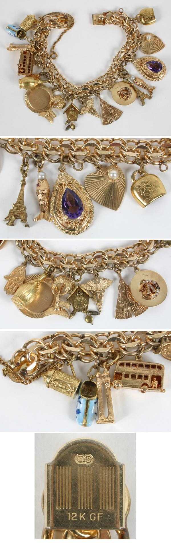 212 best gold charm bracelet images on charm