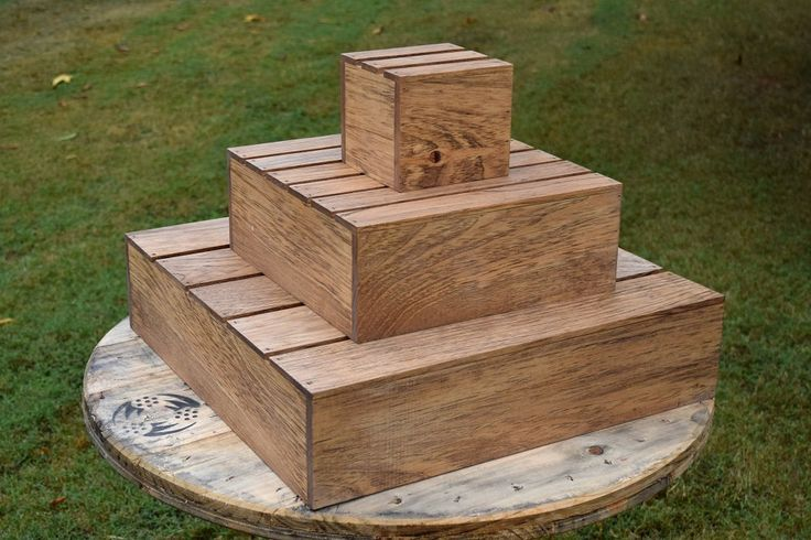 Image result for wood pallet cake stand