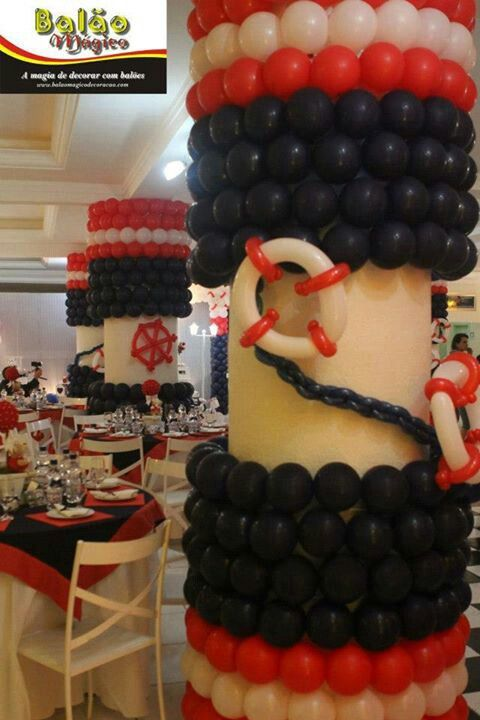 Marine balloon columns