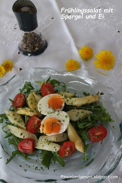 mein Land und Gartengenuss: Frühlingssalat mit Spargel und Ei