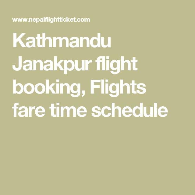 Kathmandu Janakpur flight booking, Flights fare time schedule