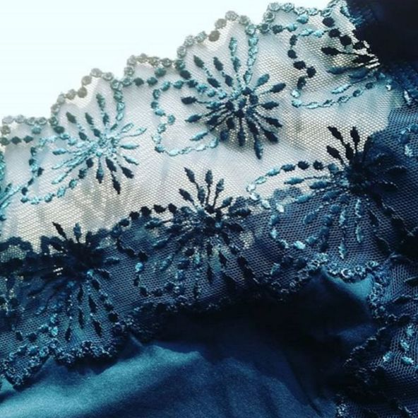"""Lace details of Jane in Empire Green. A generous green you simply cannot do without."" - Repost from Marie Jo Lingerie #YYC #YYCLiving #YYCLingerie #Lingerie"