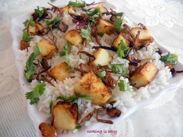 Tasty.....Paneer Pulav/Rice.