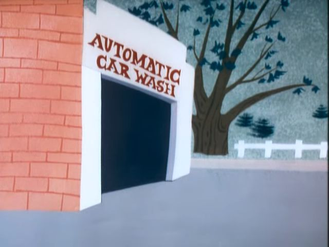 "Sign letters: ""Automatic Car Wash 