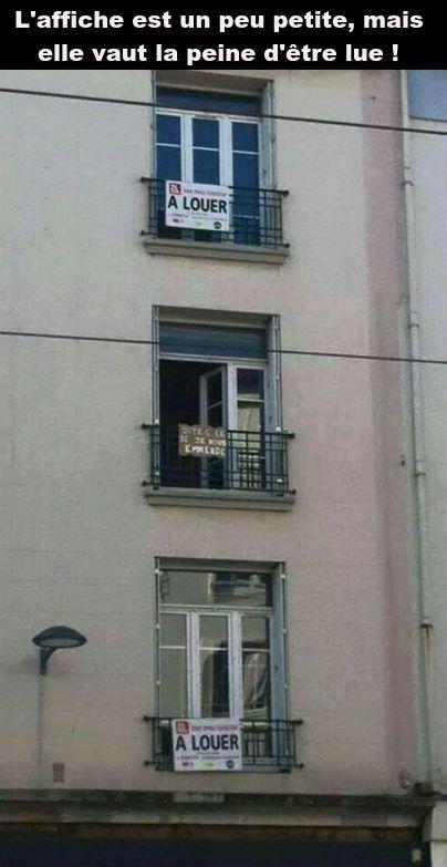 Ces 2 appartements sont à louer, c'est louche