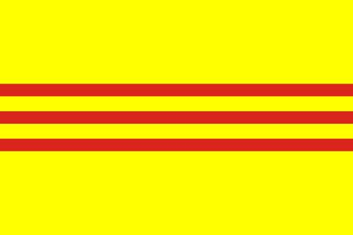 The flag of South Vietnam served as South Vietnam national flag between 1948 and 1975 . The flag is no longer officially used in Vietnam today, but is still shown by many exiled Vietnamese, especially in the US. (see also: Boat People) .The flag was originally inspired by Emperor Thành Thái in 1890,[1] and was revived by Lê Văn Đệ and re-adopted by Emperor Bảo Đại in 1948.[2] It was the flag of the former State of Vietnam (the French-controlled areas in both Northern and Southern Vietnam)…