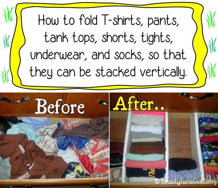 Clothing Storage Ideas For Small Bedrooms How To Fold T-shirts, Pants, Tights, Tank Tops, Shorts