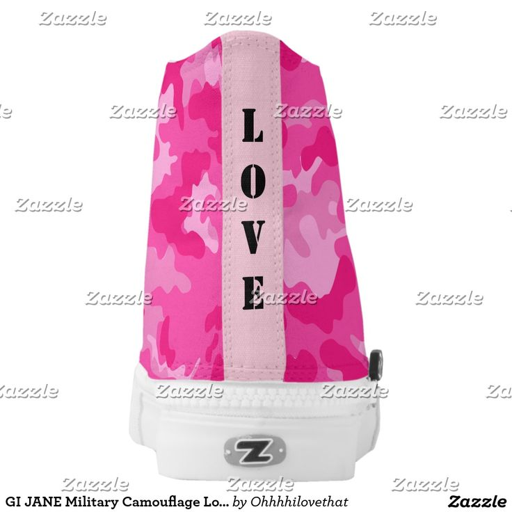 GI JANE Military Camouflage Love Pink Sneakers