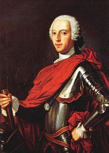 "Charles Edward Stuart ""Bonnie Prince Charlie""  The second Jacobite pretender to the thrones of  England, Scotland and Ireland (aka The Young Pretender). He was the eldest son of James Francis Edward Stuart.  In 1745, he led the Jacobite rising know as The 'Forty-Five."