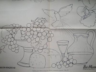 Santa Ceia – Pintura em tecido – risco de Bia Moreira… | Criar e Pintar