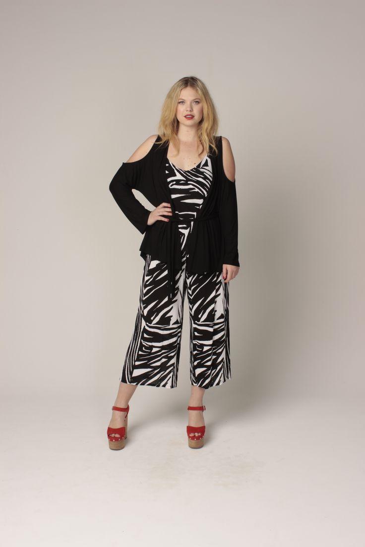 TCD spring 13 - cut out cardi, sammy cami, tab pants. curvy summer fashion sizes 12-24
