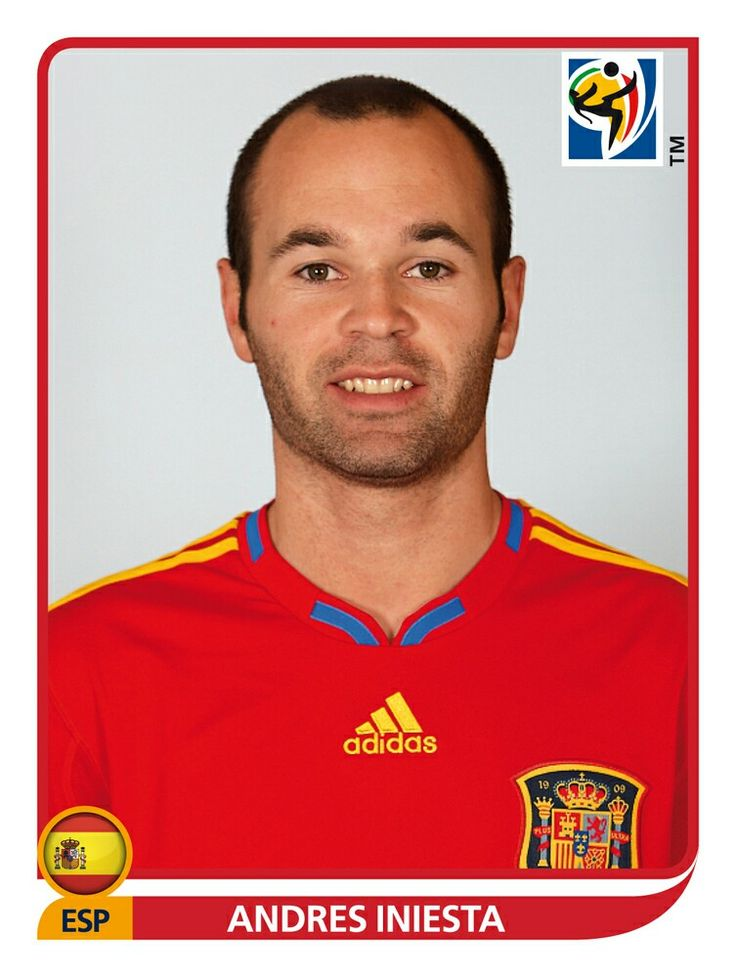 577 Andres Iniesta - España - FIFA World Cup South Africa 2010