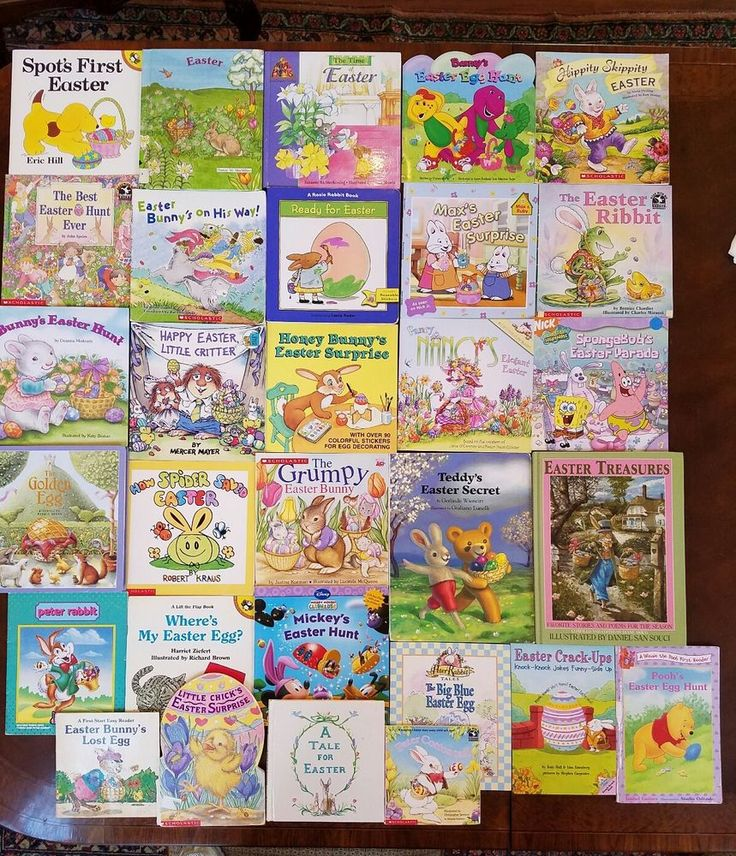 Lot of 30 Children's EASTER Holiday Picture Books 39 Stories SPOT Spongebob POOH