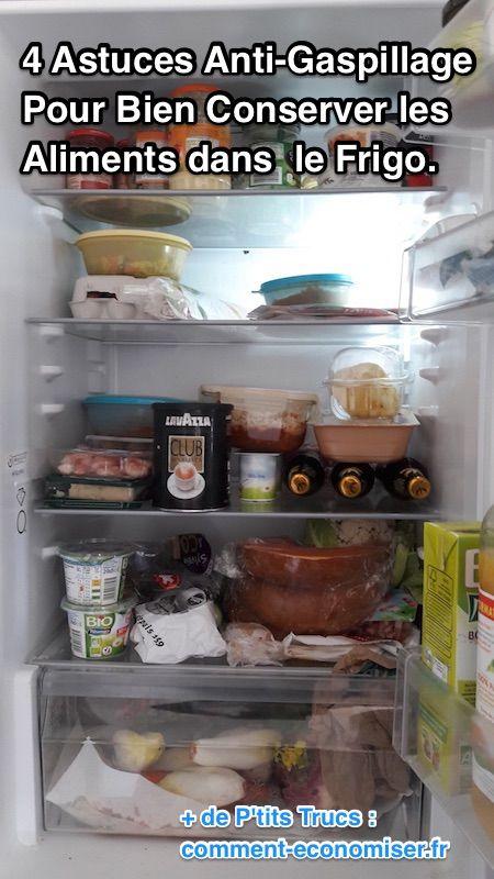Vous en avez marre de retrouver certains de vos aliments périmés au fond de votre frigo ? Résultat, vous êtes obligé de les jeter. Quel gaspillage ! Heureusement, il existe 4 astuces simples qui devraient vous aider à mieux conserver vos produits. Découvrez l'astuce ici : http://www.comment-economiser.fr/comment-conserver-les-aliments-dans-le-frigo.html?utm_content=buffere09c9&utm_medium=social&utm_source=pinterest.com&utm_campaign=buffer