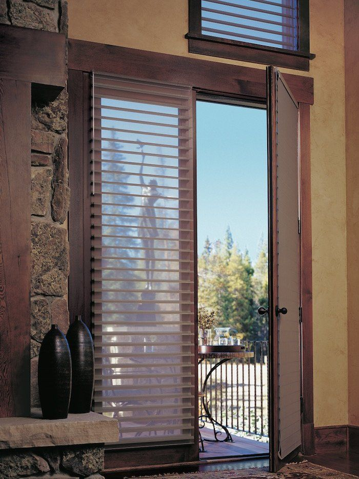 Silhouette window shadings on a French Door, for sale at Classic Blinds & Shutters Design Center in Alpharetta, GA