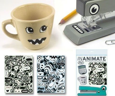Give some life to your inanimate objects around the office with these inanimate character stickers. A great gift for any office, this sticker package gives you 124 waterproof removable stickers. Our personal favorite is the vampire teeth staple remover.