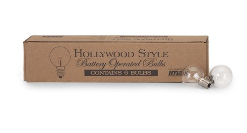 """Hollywood Style LED Replacement Bulbs 9.5""""""""h x 2""""""""w x 1.75"""""""""""
