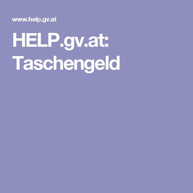 HELP.gv.at: Taschengeld