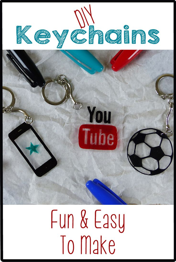 Make your own personalized keychains! Fun DIY craft project!