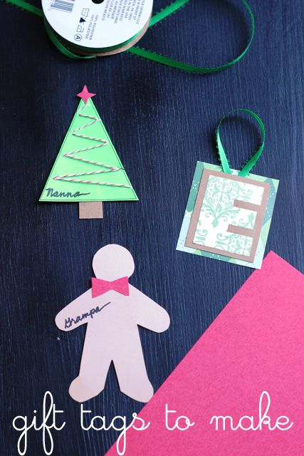Easy Homemade Gift Tags - Create easy, homemade gift tags to label presents and to add a little personal touch to the gifts you give.   Templates included to make it easy for you to do.