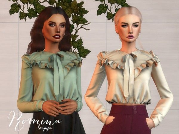 The Sims Resource: Romina top by Laupipi • Sims 4 Downloads | Sims 4
