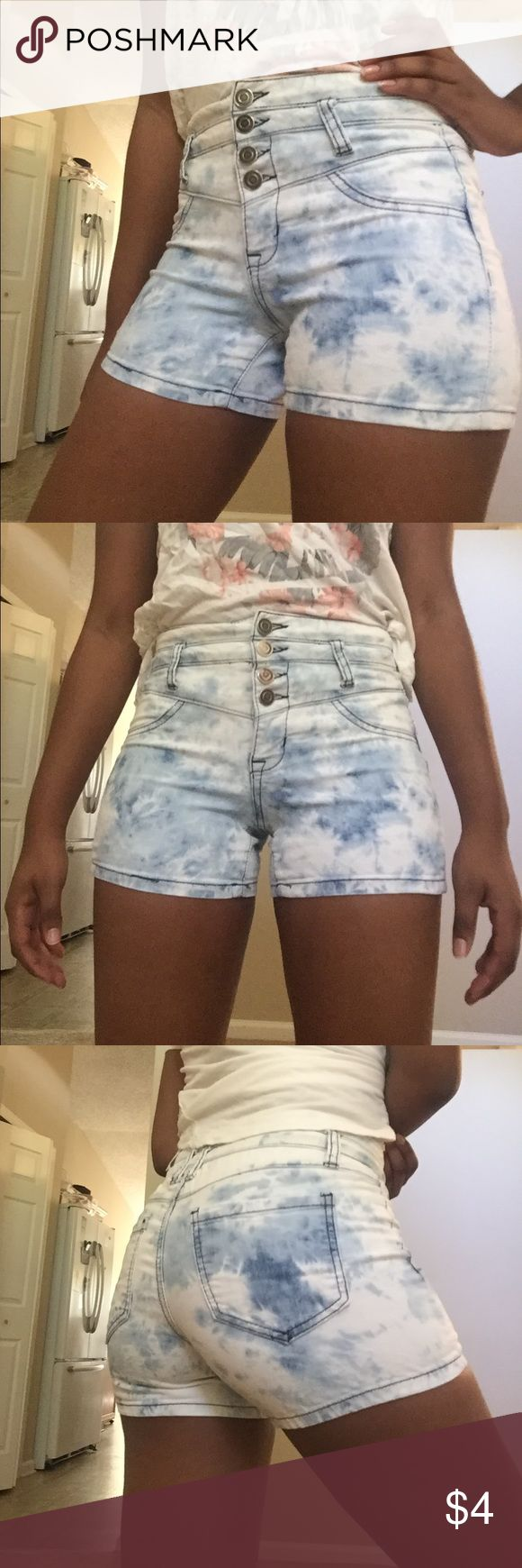 High Waisted Shorts 🌸🌞 Super Cute high waisted shorts from Body Central. Size is small. Pop your outfit with these adorable tye-dye wash shorts!! ❤️❤️🌸 Body Central Shorts