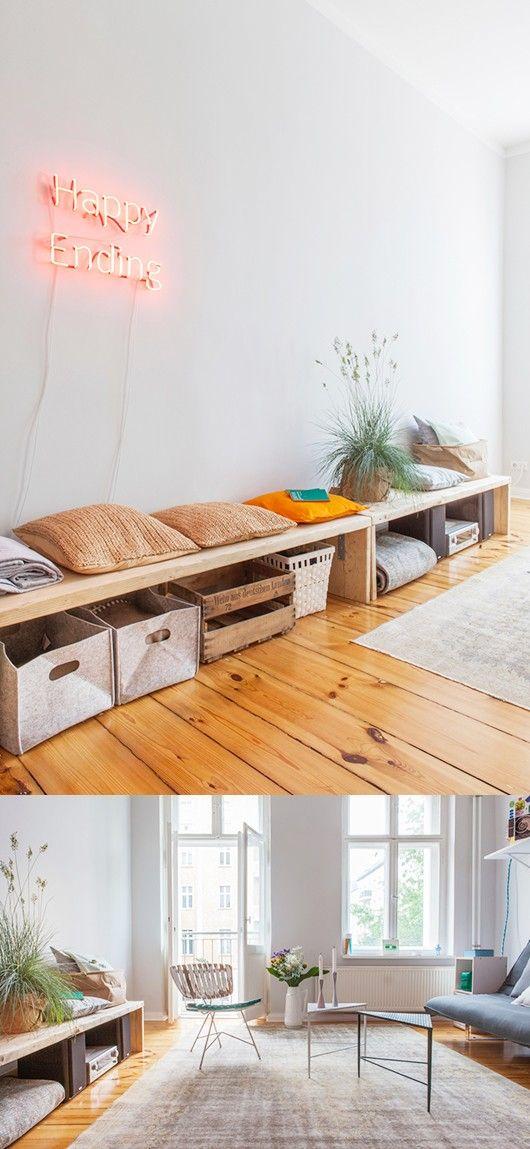 Γγρ│ Simple, lumineux et chaleureux, voici un joli studio - http://www.decouvrirdesign.com/home-tours/touches-de-couleur-pour-un-petit-espace-a-berlin