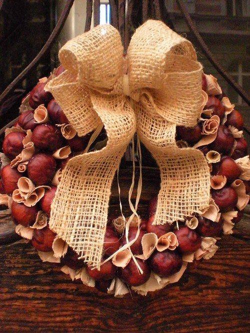 Chestnut wreath