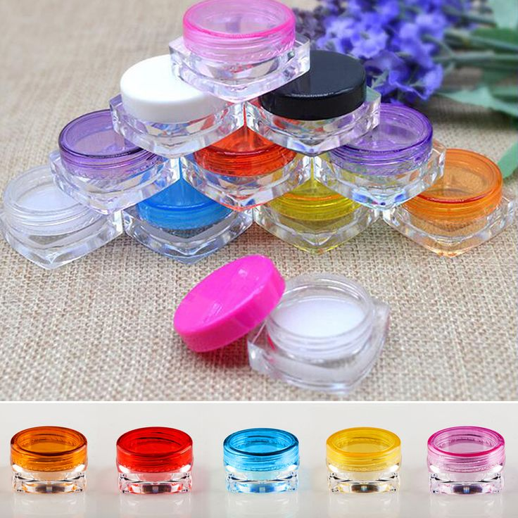 Sale Fatory 10pcs/lot 5g Square Plastic Jar,10ml Empty Clear Cream Jar,Cosmetic Sample Containers,Lotion Jars Free Shipping