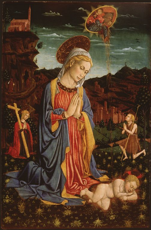 """Madonna Adoring the Christ Child"" Giovanni Francesco da Ramini, 1460, High Museum of Art"