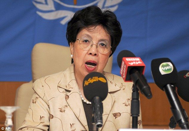Dr Margaret Chan, director general of the WHO, said: 'Why are clinicians still empty handed, with no vaccines and no cure? Because Ebola has historically been confined to poor African nations'