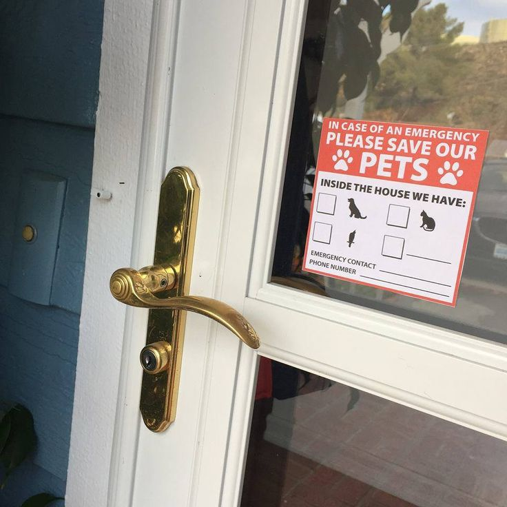 If there is ever an emergency situation at your house such as a fire, gas leak, or natural disaster, having this emergency pet sticker on your door will alert emergency services that there is a pet in