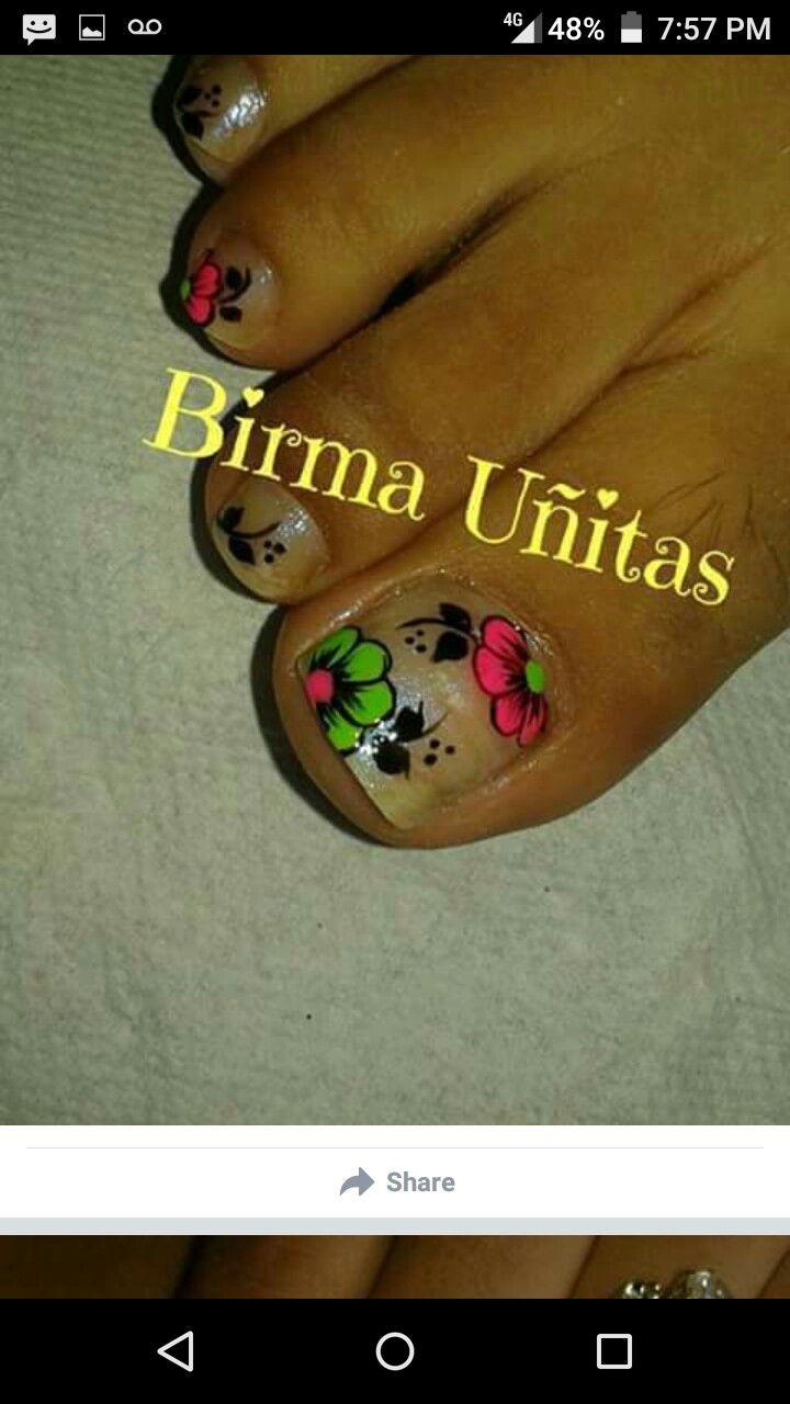 58 best Uñas pedi images on Pinterest | Uñas pies, Diseños para uñas ...