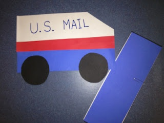 mail truck for Valentines day cards