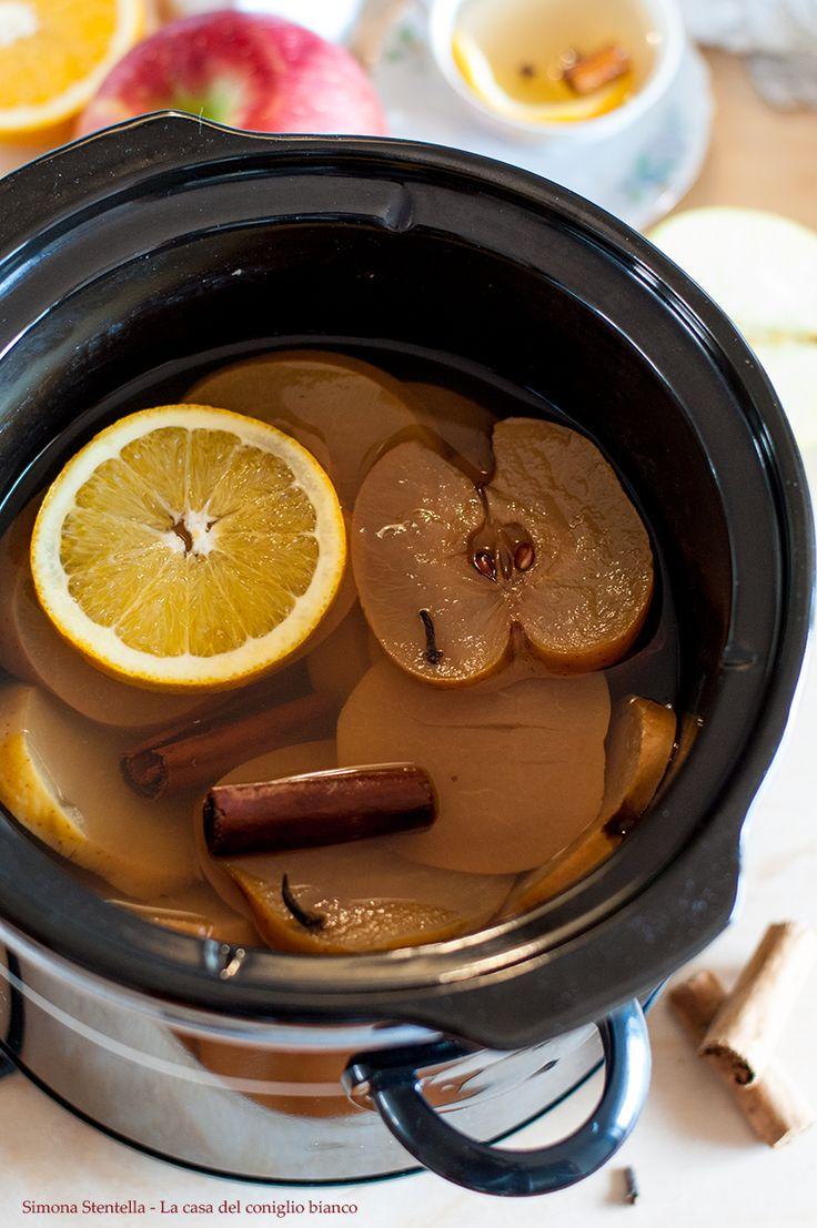 Tisana autunnale | Slow cooker orange apple cider with cinnamon | La casa del coniglio bianco