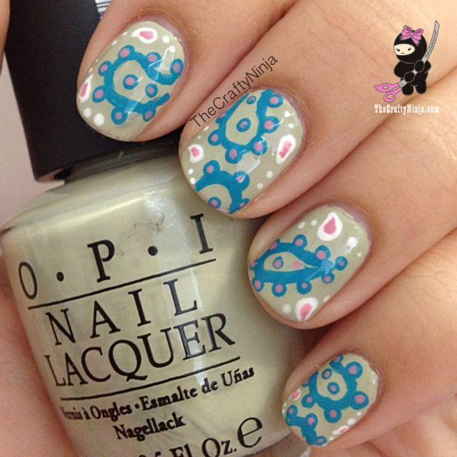 paisley country nails