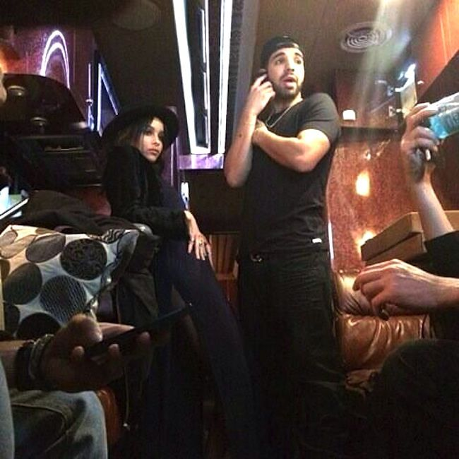 Zoe Kravitz & Drake partied together at Beyonce's concert in 2013. (Courtesy of Instagram)