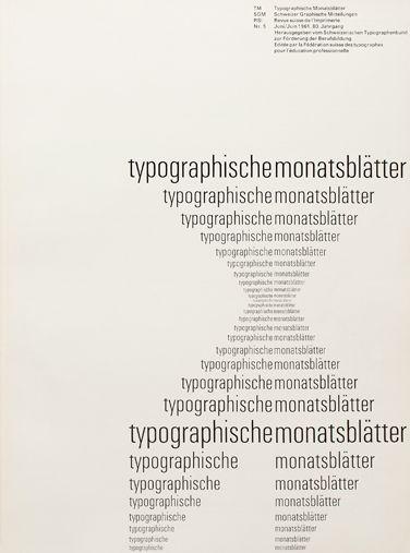 Emil Ruder  various size font, makes the shape, center and left aligned