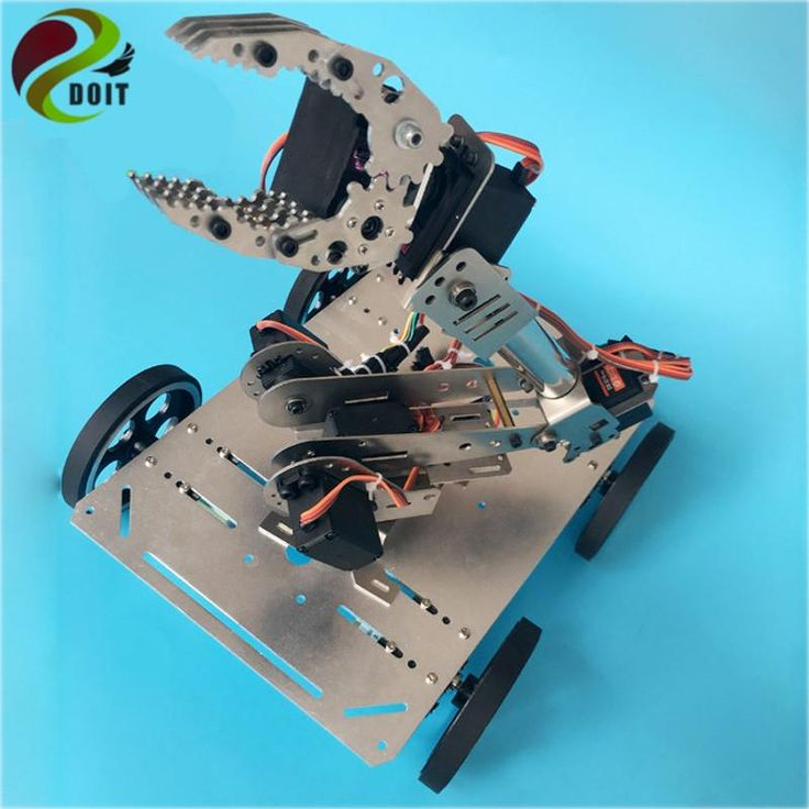 DOIT C600 RC Stainless Steel Metal Tank Chassis Smart Track Tracked Vehicle with Motor DIY RC Toy Remote Control