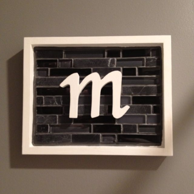 Craft with leftover bathroom tiles - great idea for whenever you have left over tiles!