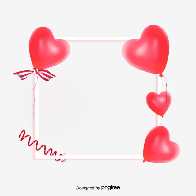 Simple Red Heart Love Balloon Border Valentines Day Elements Border Clipart Love Clipart Red Heart Love Balloon Png Transparent Clipart Image And Psd File Fo Love Balloon Clip Art Borders Clip